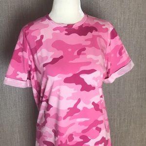 6e8776d25c02 Forever 21 Dresses - Forever 21 Pink Camo T-Shirt Dress